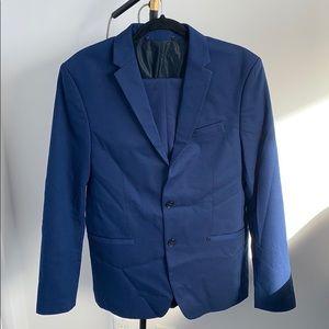 Zara men blue suit two buttons size 40